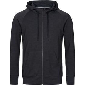 super.natural Essential Veste à capuche zippée Homme, jet black melange